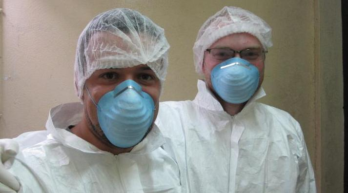 Ed and Fab doing Science in Gabon